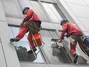 Мойка окон и витрин в Самаре Мойка фасада  Промышленный альпинизм.