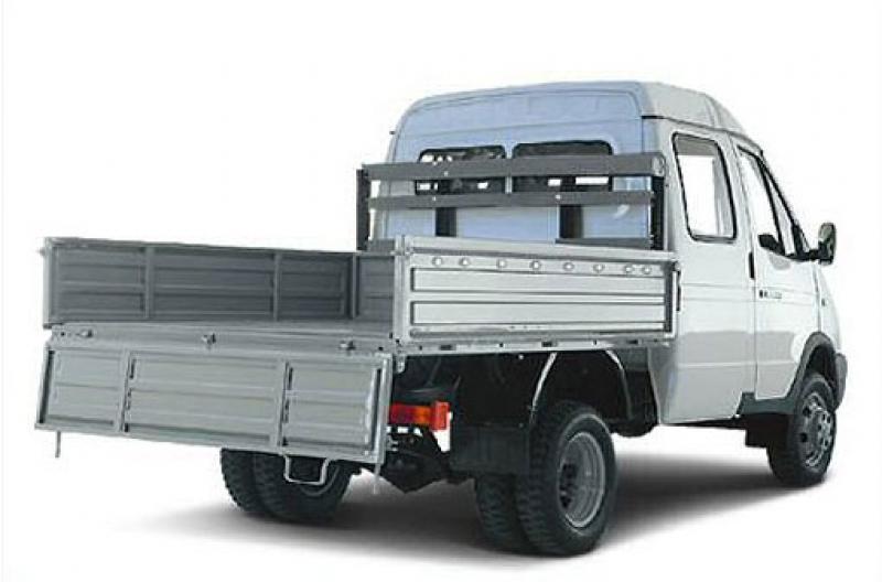 """ГАЗ-330232  """"ГАЗель """", двухрядная кабина, с крано-манипуляторной установкой FASSI M30A.13+1, г/п 1,5 т., удлин.борт..."""