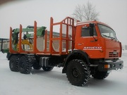 КМУ  Атлант С-100 (ЛВ-185-14) на сортиментовоз КамАЗ 43118