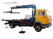 Автоэвакуатор с КМУ Инман 150 Т  на КамАЗ 4308.