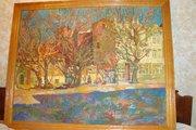Продаётся картина художника Пурыгина «Городской пейзаж» 1969 год.