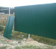 Забор для дома и дачи из профнастила.